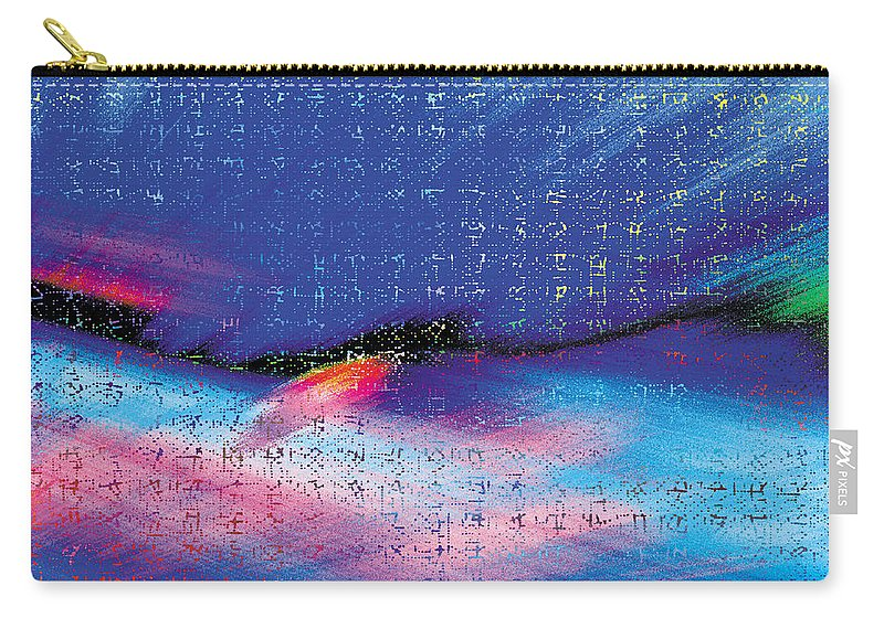 Abstract Carry-all Pouch featuring the digital art Alpha Orbiter by Mark Greenberg