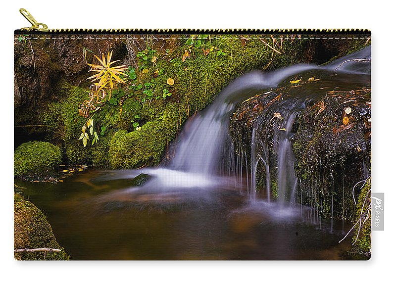 Water Carry-all Pouch featuring the photograph Alpine Waterfall by Brian Kerls