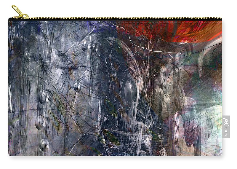 Abstract Carry-all Pouch featuring the digital art Altered Second Movements by Linda Sannuti