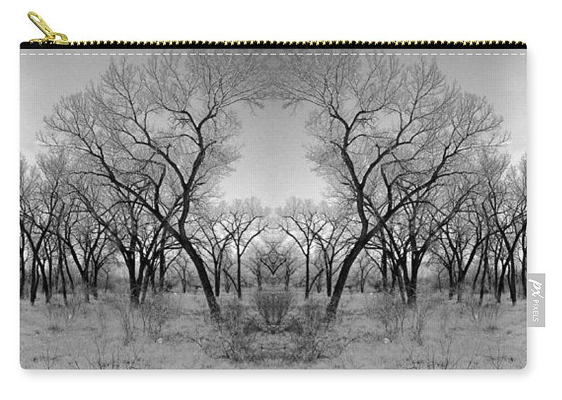 Landscape Carry-all Pouch featuring the photograph Altered Series - Bare Double by Kathleen Grace