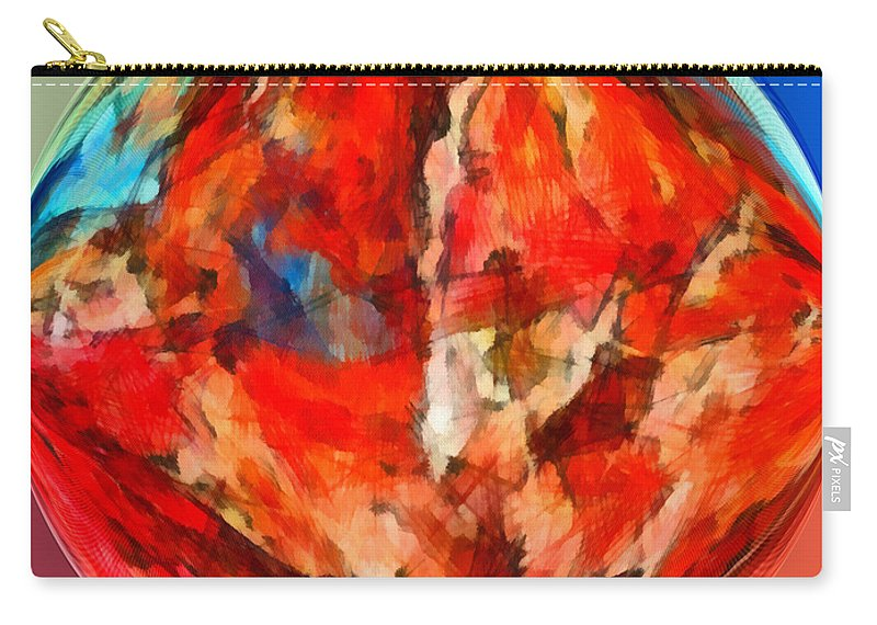 Perception Carry-all Pouch featuring the mixed media Alternate Realities 3 by Angelina Vick