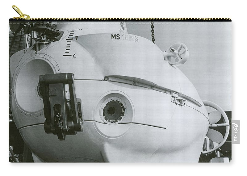 Science Carry-all Pouch featuring the photograph Alvin, Deep Sea Ocean Research Vessel by Omikron
