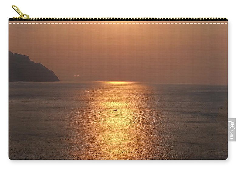 Amalfi Sunset Carry-all Pouch featuring the photograph Amalfi Sunset by Bill Cannon