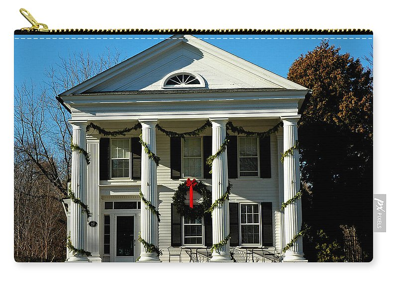 Usa Carry-all Pouch featuring the photograph American Colonial Architecture Christmas by LeeAnn McLaneGoetz McLaneGoetzStudioLLCcom