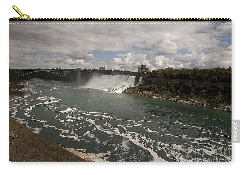 american Falls Carry-all Pouch featuring the photograph American Falls by Amanda Barcon