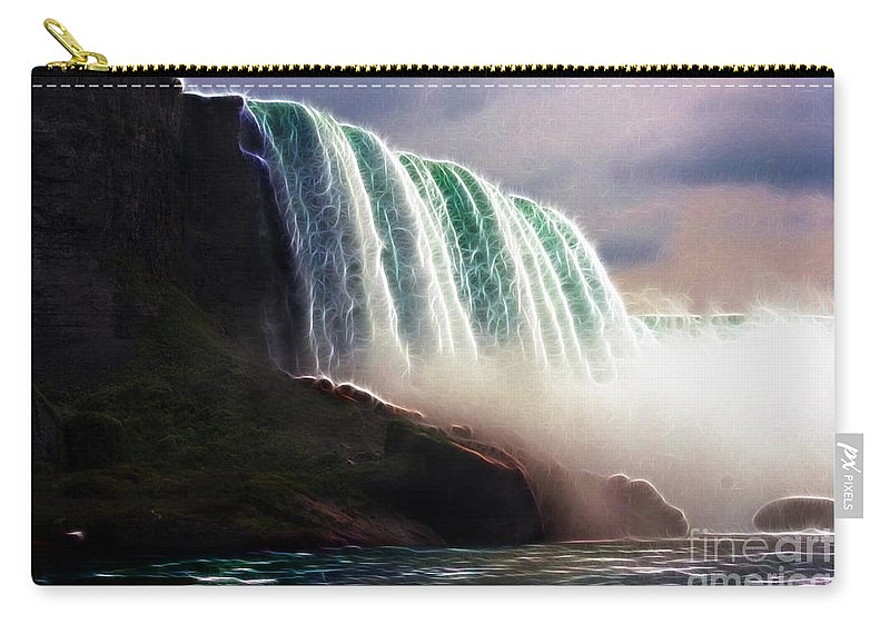 Niagara Falls Carry-all Pouch featuring the photograph American Falls Power by Darleen Stry