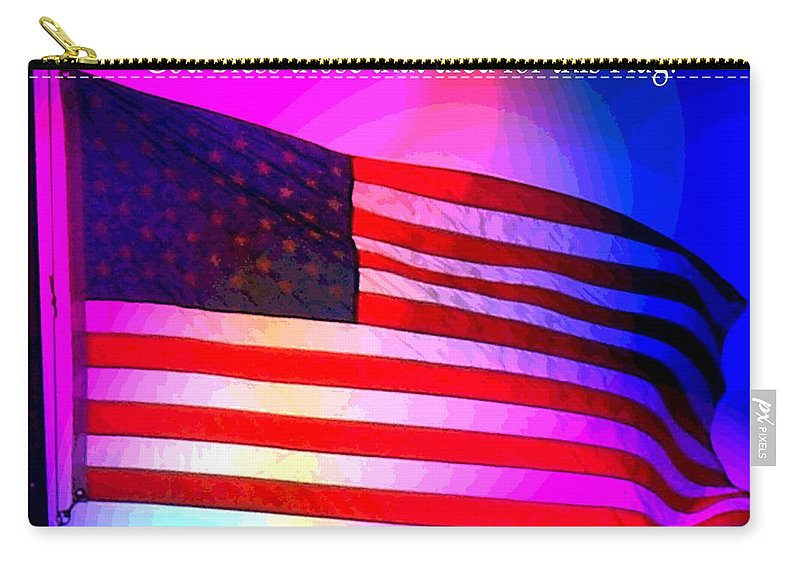 American Carry-all Pouch featuring the photograph American Flag by George Pedro