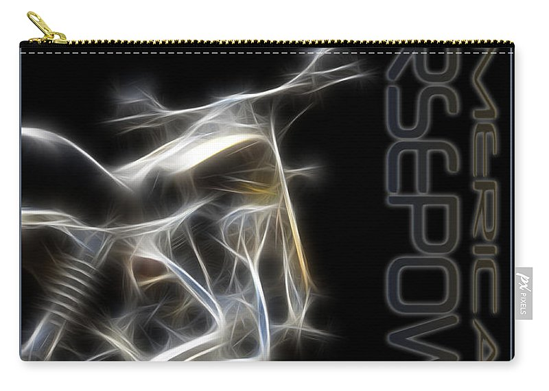 Harley Carry-all Pouch featuring the digital art American Horsepower by Ricky Barnard