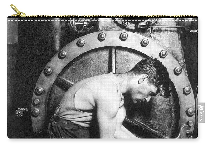 1920 Carry-all Pouch featuring the photograph American Industry, 1920 by Granger