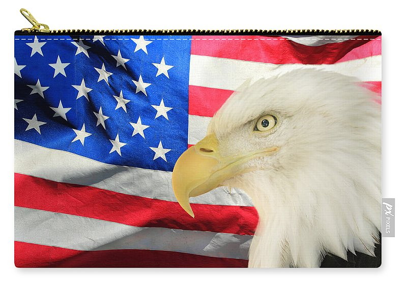 America Carry-all Pouch featuring the photograph American by Shane Bechler