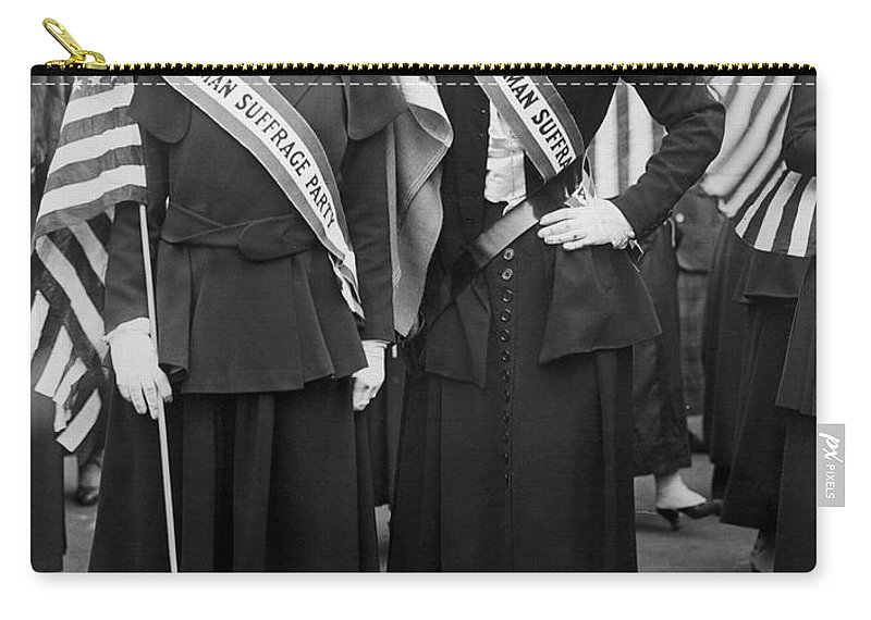 1910s Carry-all Pouch featuring the photograph American Suffragists by Granger