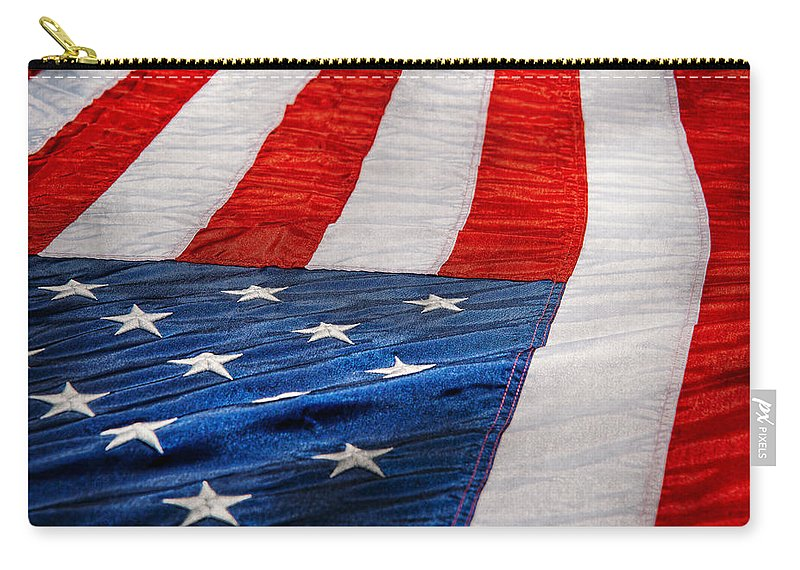 911 Carry-all Pouch featuring the photograph Americana - Flag - Stars And Stripes by Mike Savad