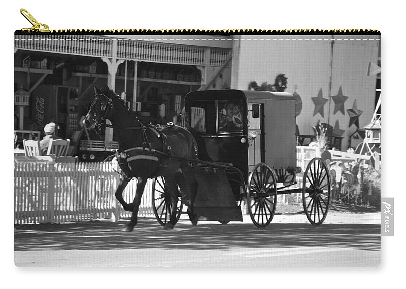 Amish Carry-all Pouch featuring the photograph Amish Transportation by Eric Tressler