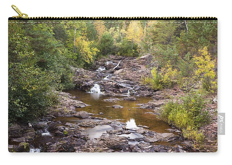 Amity Carry-all Pouch featuring the photograph Amity Creek Autumn 2 by John Brueske