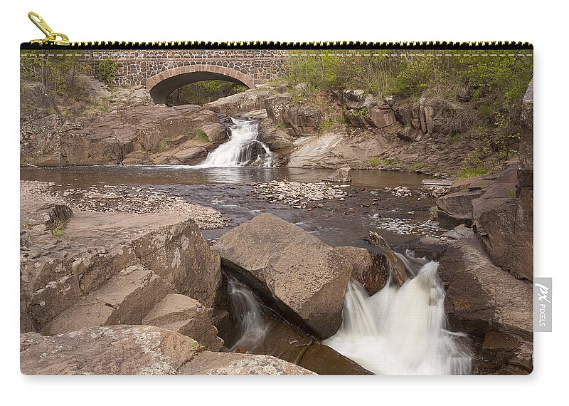 Amity Carry-all Pouch featuring the photograph Amity Creek Scene 8 by John Brueske