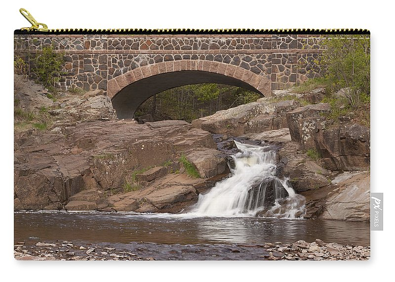 Amity Carry-all Pouch featuring the photograph Amity Creek Scene 9 by John Brueske