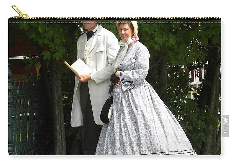 Upper Canada Village Carry-all Pouch featuring the photograph An Afternoon Stroll by Peggy McDonald