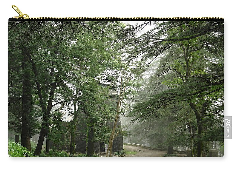 Church Carry-all Pouch featuring the photograph An Old Gothic Style Church In The Indian City Of Mcleodganj by Ashish Agarwal