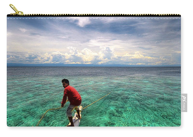 Yhun Suarez Carry-all Pouch featuring the photograph Anchor's Away by Yhun Suarez