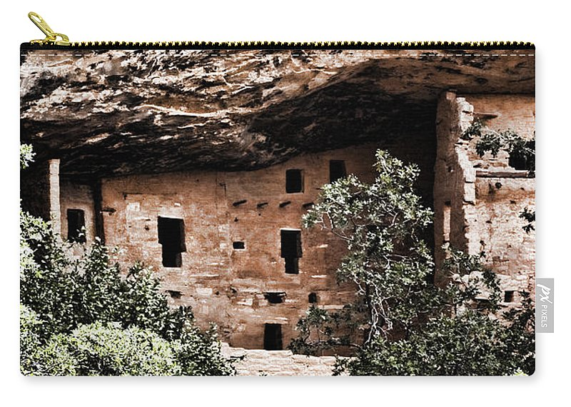 Anasazi Carry-all Pouch featuring the photograph Ancient Peoples by Karen Ulvestad