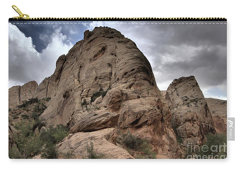 Capitol Reef National Park Carry-all Pouch featuring the photograph Ancient Petrified Fish by Adam Jewell