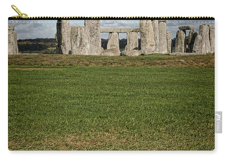 Stonehenge Carry-all Pouch featuring the photograph Ancient Stones by Heather Applegate