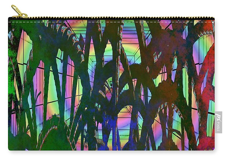 Abstract Carry-all Pouch featuring the digital art And They All Came Tumbling Down by Tim Allen