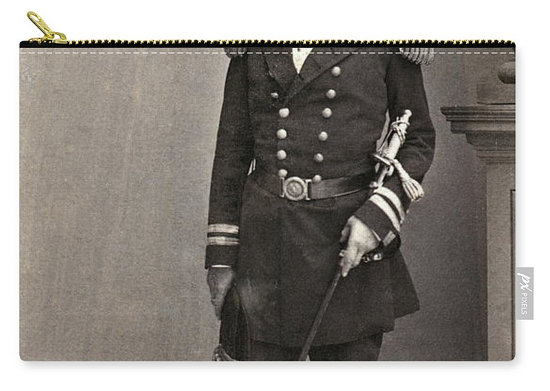 1861 Carry-all Pouch featuring the photograph Andrew Hull Foote by Granger