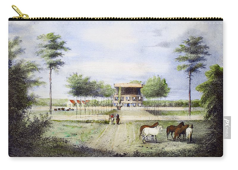 1830 Carry-all Pouch featuring the photograph Andrew Jackson: Hermitage by Granger