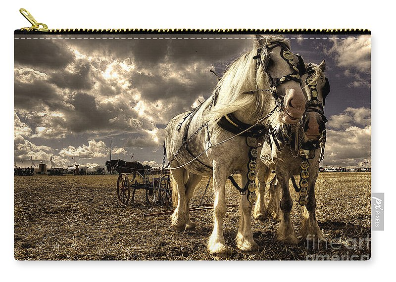 Great Carry-all Pouch featuring the photograph Angel And Lad by Rob Hawkins