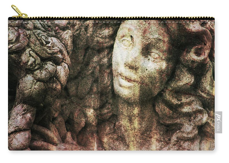 Angel Carry-all Pouch featuring the photograph Angel Cast In Stone by Kathy Clark