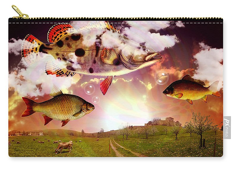 Fish Carry-all Pouch featuring the photograph Angel Fish by Mark Ashkenazi