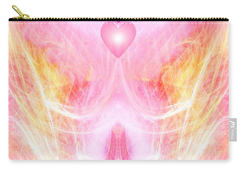 Angel Carry-all Pouch featuring the digital art Angel Of Divine Love by Diana Haronis
