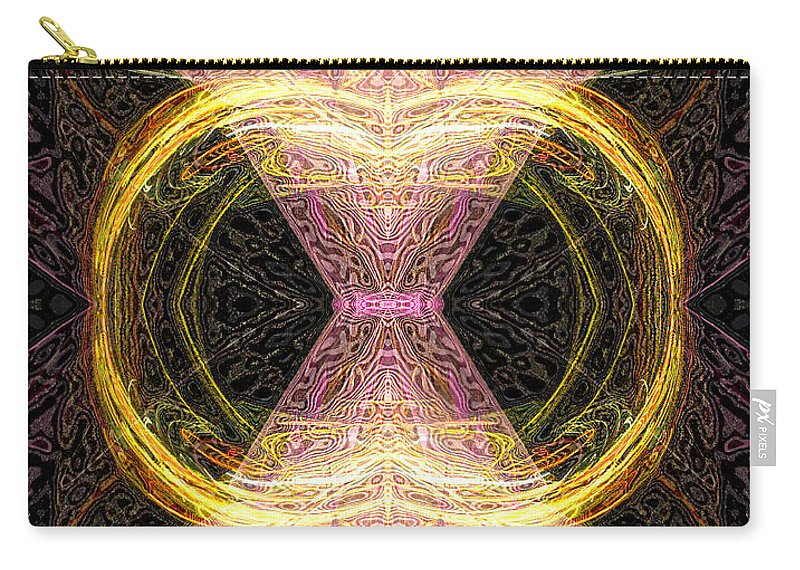 Angel Carry-all Pouch featuring the digital art Angel Of Groups And Gatherings by Diana Haronis