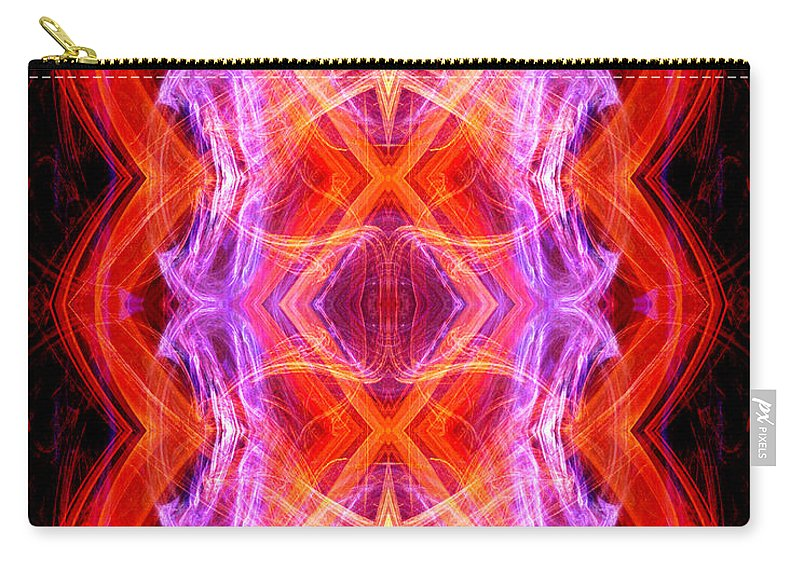 Angel Carry-all Pouch featuring the digital art Angel Of Tantra by Diana Haronis