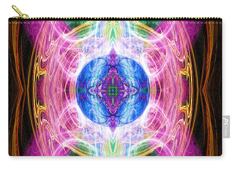 Angel Carry-all Pouch featuring the digital art Angel Of Unity by Diana Haronis