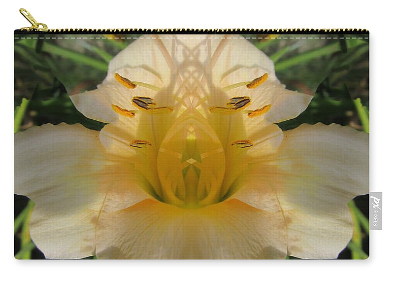 Color Blend Carry-all Pouch featuring the digital art Angelic Lily by Michele Caporaso