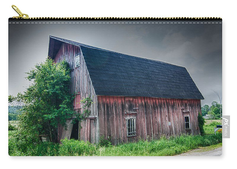 Angelica Carry-all Pouch featuring the photograph Angelica Barn In Hdr by Guy Whiteley