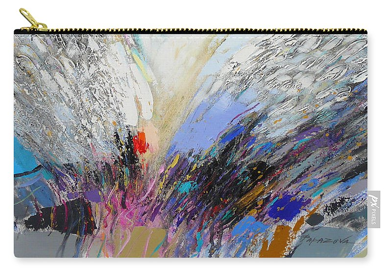 Abstract Carry-all Pouch featuring the painting Angels Presence 3 by Petia Papazova