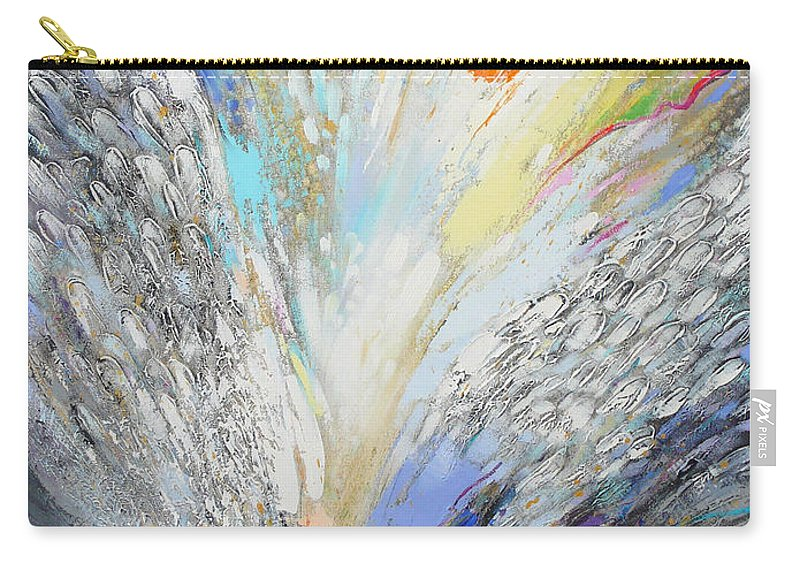 Abstract Carry-all Pouch featuring the painting Angels Presence by Petia Papazova