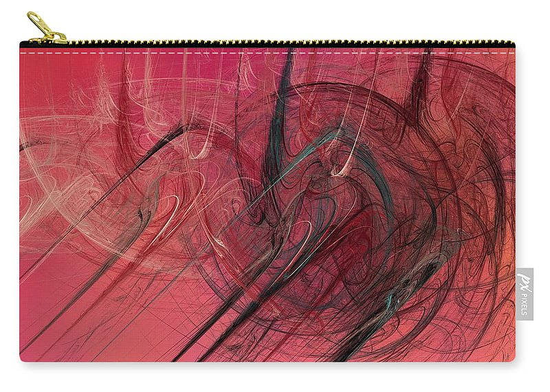 Digital Art Carry-all Pouch featuring the digital art Anger by Christy Leigh