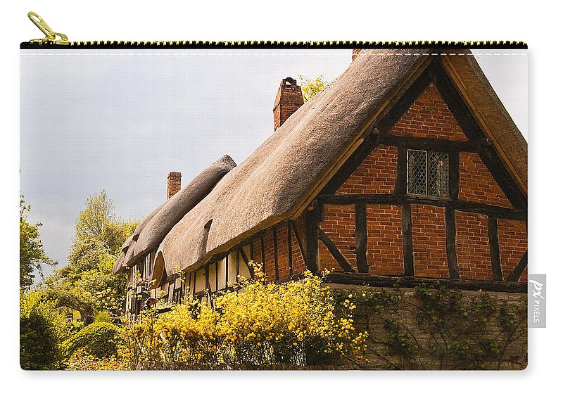 Stratford On Avon Carry-all Pouch featuring the photograph Ann Hathaway Home by Jon Berghoff