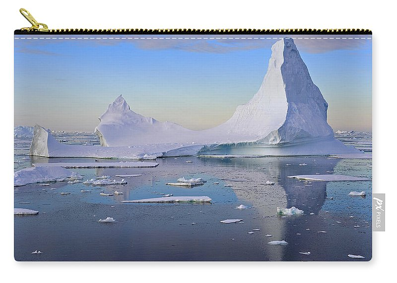 Iceberg Carry-all Pouch featuring the photograph Antarctic Evening by Tony Beck