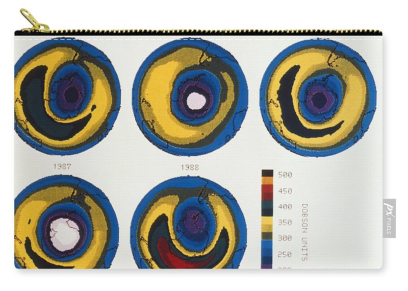 1984 Carry-all Pouch featuring the photograph Antarctica: Ozone, 1988 by Granger