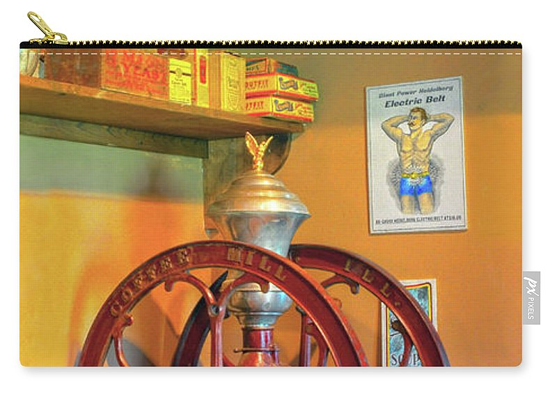 Coffee Mill Carry-all Pouch featuring the photograph Antique Coffee Mill by Dave Mills