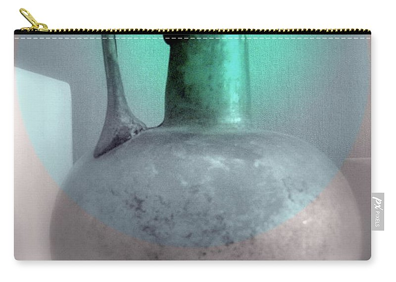 Vessel Carry-all Pouch featuring the photograph Antique Large Pitcher Still Life by Kathleen Grace