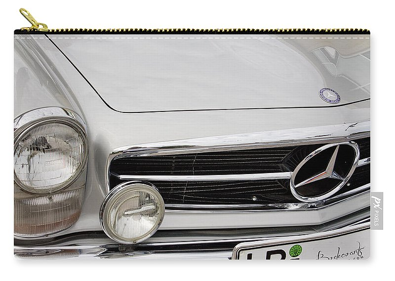 Antique Mercedes Carry-all Pouch featuring the photograph Antique Mercedes Automobile by Robin Lewis