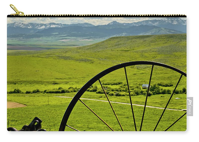 Americas Carry-all Pouch featuring the photograph Antique Rake by Roderick Bley