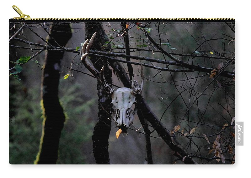 Deer Carry-all Pouch featuring the photograph Antlers - Skull - In The Air by Travis Truelove