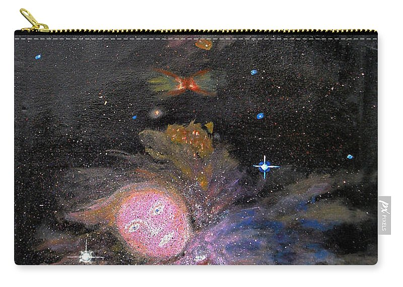 Augusta Stylianou Carry-all Pouch featuring the painting Aphrodite In Orion's Nebula by Augusta Stylianou